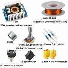 A Full Kit - DC Converter/Magnet Wire/Resistor/TX60/Switch For DIY LED PANEL