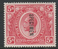 156 KUT 1922-27 KG5 5s  opt'd SPECIMEN only about 400 produced