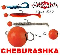 FLEXI Jig Heads CHEBURASHKA 5pcs Ball RED Weight Sinkers Soft Plastic Lure Drop