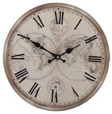 "Clock 34cm (13"") Antique Style Shabby Chic Roman Numerals 3D"