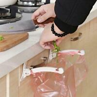 Cabinet Door Garbage Trash Bag Bracket Can Box Rack Hanging Kitchen Holder G8N5