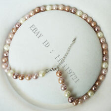 """8mm AAA Multicolor south sea shell pearl necklace 18"""" 012"""