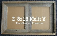 2-8x10 MV rustic barnwood barn wood multi picture frame