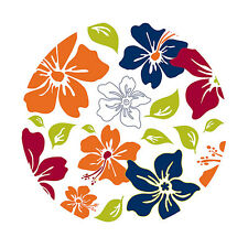 Wall Pops Tropical Island Fusion Circles Stickers Decals WPD90257