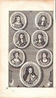 1733 Georgiano Stampa ~ Inglese Monarch & Kings Sovrane ~ George James Charles