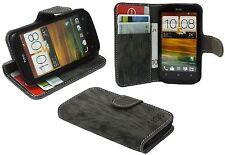 Schutzhülle Schutztasche Zubehör für HTC Desire X + Folie // Anthrazit