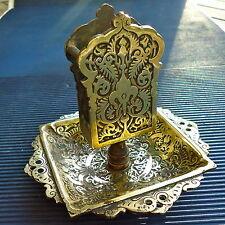 Pyrogène d' Exception Signé Très Ancien Bronze Superbes Décors 11,5 Cm - 416 Grs