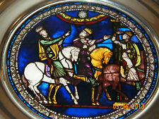 1993 Stained Glass & Pewter Christmas Plate (US Historical) THE MAGI Canterbury