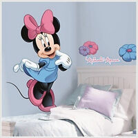 """Disney MINNIE MOUSE wall stickers MURAL decal Clubhouse 40"""" tall room decor"""