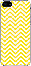 Chevron Yellow Designed iPhone 5 White TPU Case Cover