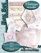 Anita Goodesign Vintage Box Set Embroidery Machine Design Cd New Bx001