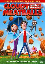 "CLOUDY WITH A CHANCE OF MEATBALLS - FULL/ WS 2 DVD SET + ""CHUCK-E-CHEESE COUPONS"