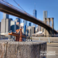 New York Tourist Travel Souvenir 3D Fridge Magnet Craft Gift, Brooklyn Bridge