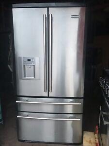 Rangemaster DXD 910 Stainless Steel Refrigerator. Excellent Condition