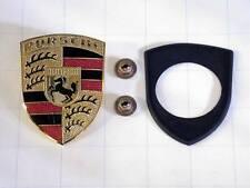 Porsche 957 (08-10) Hood Emblem crest badge kit GENUINE engine lid logo shield