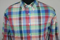 Jos A Bank Mens Tailored Fit Long Sleeve Button Front Shirt Size XL Plaid