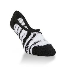 Worlds Softest Womens Cozy Footsie Socks JESTER ZEBRA - One Size NEW