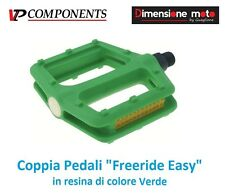 0656 - Coppia Pedali VP-Comp. Freeride Easy Verde per Bici 26-28 Single Speed