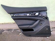 Porsche PANAMERA 970 Türpappe Türverkleidung leder schwarz hinten links