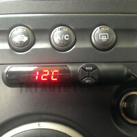 3 in 1 Auto KFZ Digital Thermometer Anzeige Innen Temperatur Uhr Spannung Volts