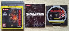 Metal Gear Solid 4 PS3  / complet / b-r sans rayure / envoi gratuit