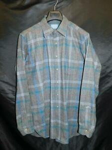 Vintage 80s Pendleton M L Gray Blue Red Yellow Plaid Wool Shirt USA Made Button