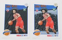 Coby White Rookie Cards Lot 2019-20 NBA Hoops Holiday Winter Tribute Snowflakes