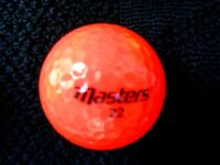 "10  MASTERS  ""ORANGE""  Golf Balls - ""PEARL/A"" Grades"