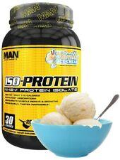 MAN Sports ISO-Protein 100% Whey Protein Isolate Powder, Vanilla Ice Cream 2lbs