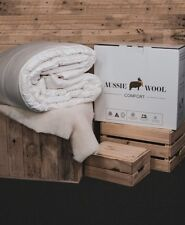 250/360/500/625/750GSM Aussie Wool Comfort Quilt Doona Duvet Down Summer Winter