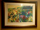 """LEROY NEIMAN """"PADDOCK AT CHANTILLY"""" 1992 SIGNED LARGE SERIGRAPH #214 OF 250!"""