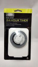 Living Solutions Dual Outlet 24 Hour Timer NEW