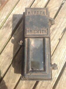 "Vintage cast iron Reason of Brighton Mercury Fuse Meter 7951  9"" x 4 """