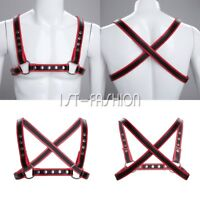 Gothic Faux Leather Gay Men's Body Chest Harness Belt Strap Clubwear Costumes