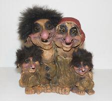 More details for nyform * vintage troll family figurine * norwegian* 7.5