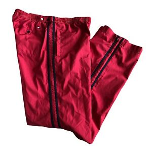 Tommy Hilfiger Womens Track Pants Size S Small Wind Swishy Red Warn-up Vintage