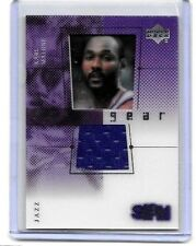 KARL MALONE 2000 UD SLAM FLIGHT GEAR CELL,& GAME USED JERSEY