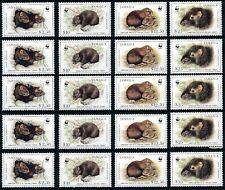 [264] Jamaica Fauna WWF 5x good Set very fine MNH Stamps