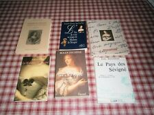 Histoire : Lot de 6 livres :autour de la Marquise de Sévigné