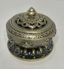Decorated Brass Charcoal Incense Burner C