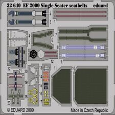 EDUARD MODELS 1/32 Aircraft- EF2000 Seatbelts for TSM (Painted) (D) EDU32640-W