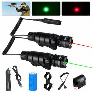 Rot Grün Dot Laser Sight Leuchtpunktvisier Zielfernrohr Schienenmontage Jagd DHL