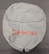 """Spare wheel cover 10"""" with Lambretta logo grey/red for Lambretta"""