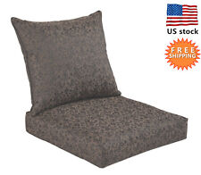 Bossima Outdoor Chair Cushion Patio Deep Seat High Back Pad Set Dining Damask