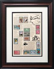 """Stamps """"Accountant"""" Framed Stamp Art Finance Numbers Mathematician Accountants"""