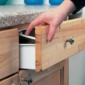 Child Lock Safety Cupboard Drawer Catch Door Proof Baby Catches Kitchen Secure