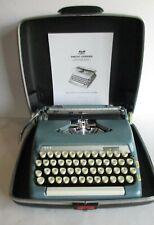 Vintage Smith Corona Sterling Portable Manual Typewriter w/ Case & Manual