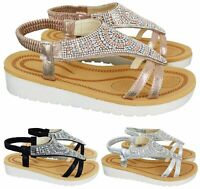 WOMENS LADIES SANDALS ANKLE SLINGBACK SANDALS FASHION STRAP SUMMER SANDAL SHOES