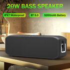 INSMA 20W TWS Speaker Portable bluetooth5.0 Super Bass Waterproof Outdoor TF