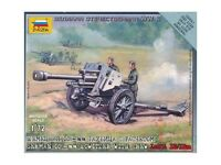 Zvezda TEDESCO 105mm Howitzer & equipaggio Modello Plastica KIT - 1/72 Scala -